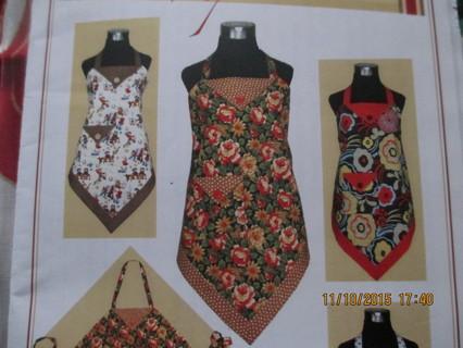 Free Vanilla House Designsfour Corners Apronunused Sewing Pattern