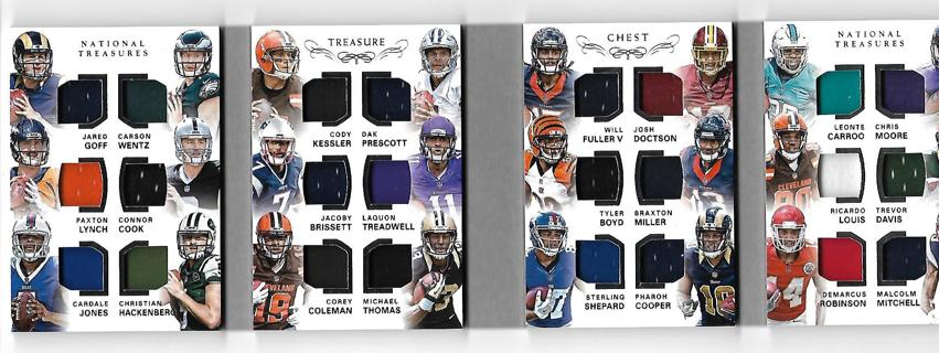 2016 national treasures treasure chest 24 player rc jersey booklet,precott,wentz,goff,loaded,#d32/49