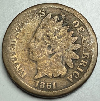 1861 Indian Head Cent (BETTER DATE) $$ coin