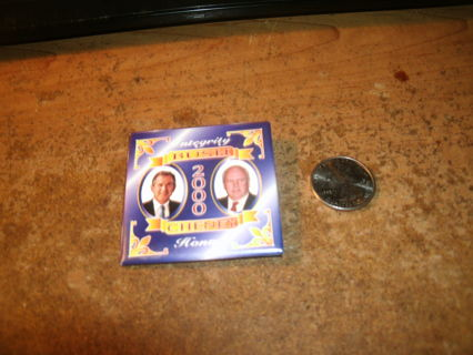 george w. bush for president 2000 campaign button-metal-pinback-ex-dick cheney