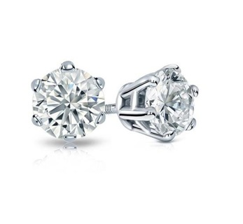 NEW Bright Tiny Stud .925 Sterling Silver CZ Stud Earrings (2mm) Cubic Stud Earrings FREE SHIPPING