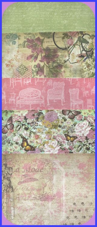 Kirby Teesdale Studio Scrapbook PAPER 20 Designs 40 Pieces