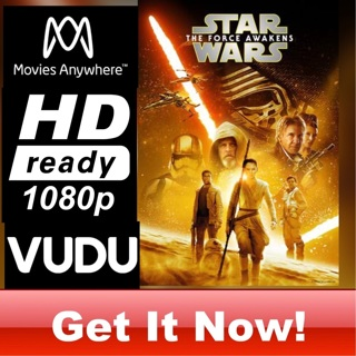 STAR WARS: THE FORCE AWAKENS HD MOVIES ANYWHERE OR VUDU CODE ONLY