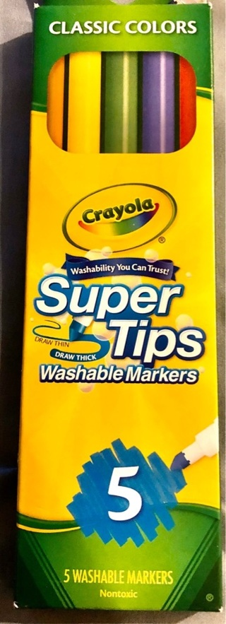 BNIB 5 CRAYOLA Duo Tip Washable NonToxic Markers. Illustrations, Special Effects, School, Crafts