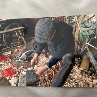 4x6 Photo Print of Man at Work