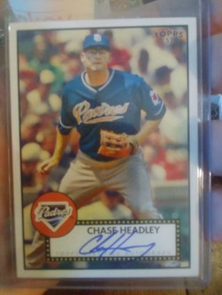 Chase headley autographed rc