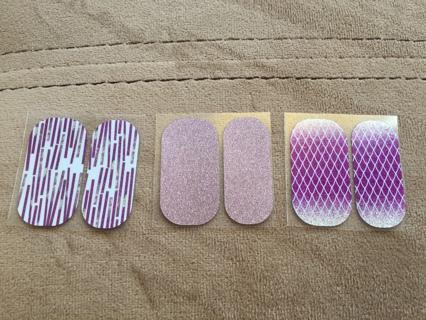 Jamberry nail wraps - 6 pedi packs