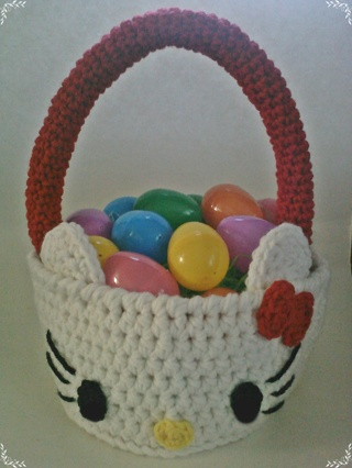 Free Crochet Hello Kitty Easter Basket Pdf Pattern Crochet