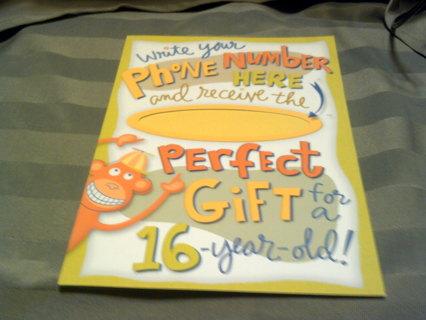 FUNNY 16 YEAR OLD BIRTHDAY CARD