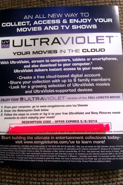Free: The Vow ~> UltraViolet Redemption Code - Other DVDs