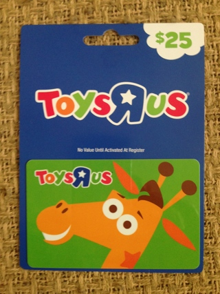 $25 Toys R Us Gift Card - Just in time for Christmas!