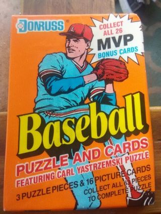 Sealed Pack of Donruss Baseball Cards