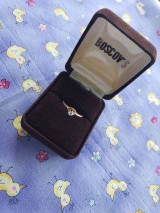 DAINTY VINTAGE PROMISE RING, MUST SEE!