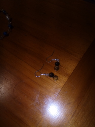Earrings Sterling silver and tigereye