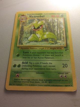 Victreebel Base 2 Set Pokemon Card Played Condition