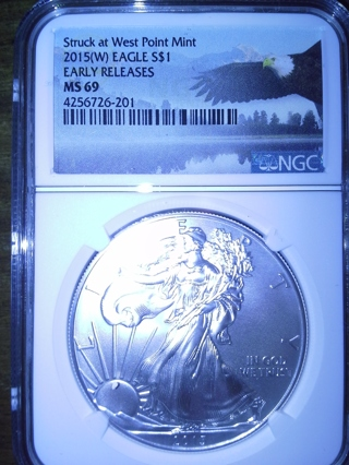 2015  1oz  .999 silver Eagle