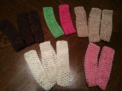 Crocheted Toddler Headbands *winner picks 3*