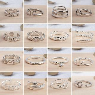 1pc Women Fashion Silver Plated Star Cudgel Finger Band Adjust Open Ring Jewelry