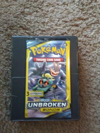 (1) Pack of POKEMON Trading Cards...UNBROKEN BONDS.