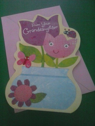 new from your granddaughter card