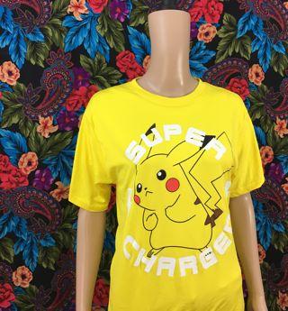 Boy's Pokemon Pikachu Shirt Pocket Monster Anime Manga FREE SHIPPING