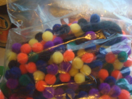 little multi color fuzzy balls