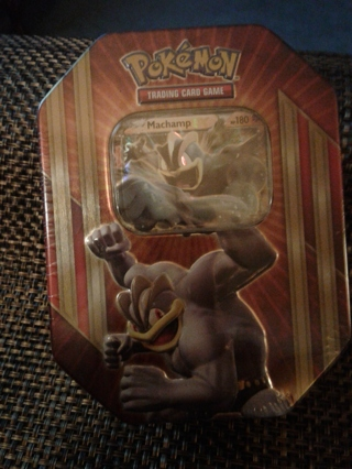 Reserved************Pokemon TCG Card Game Machamp EX Spring 2016 Triple Power Collector's Tin