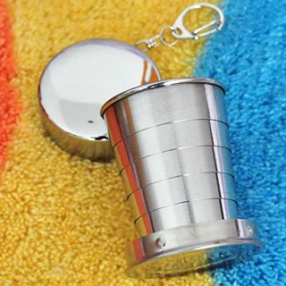 Stainless Steel Portable Outdoor Travel Folding Collapsible Cup Camping Hiking  Survival Gear EDC