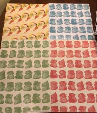 Brand New Pepin Press Vintage Christmas Santa Claus Large Gift Wrapping Sheets Made in Amsterdam