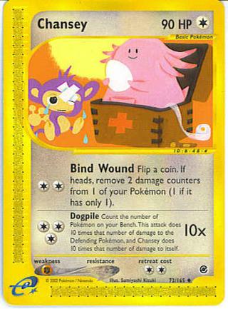 1 Chansey 72/165 - Pokemon Card Uncommon Expedition Singles Pokemon TCG Collectible