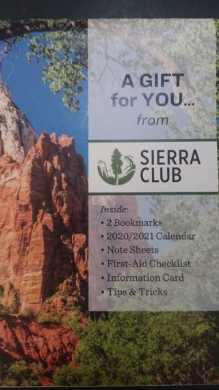 SIERRA CLUB ACTIVITY BOOK! All kinds of goodies nice for a road trip!:)