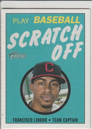 2020 TOPPS HERITAGE FRANCISCO LINDOR SCRATCH OFF GAME CARD