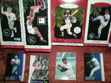 Lot of 4 Hallmark Sports Ornaments