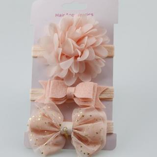3Pcs Baby Elastic flower headband Headbands Hair Girls Bebe Bowknot Hairband Toddler Infants acces