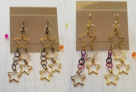 New Dangle Star Earrings