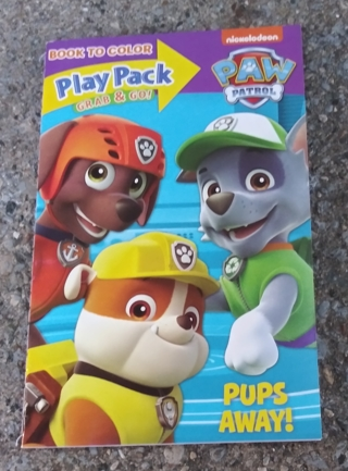 PAW PATROL SMALL COLORING BOOK AND ACTIVITY PAGES WITH STICKERS USE YOUR OWN CRAYONS LOT 1