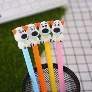 Colored Cartoon Dog Shape Gel Pen DIY Office Stationery and School Supplies Smooth Writing Black a