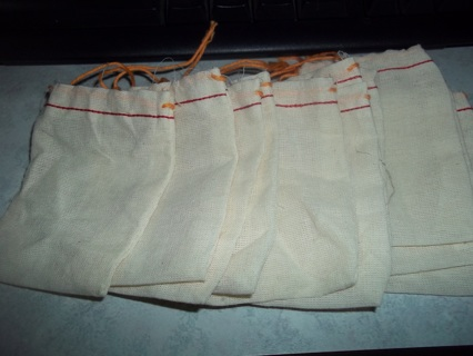 24 cloth drawstring bags 3X4 inches