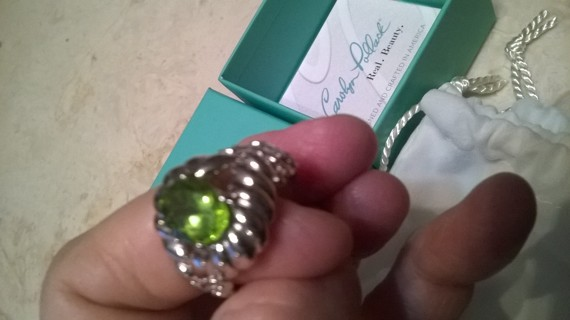 Carolyn Pollack Sterling Silver Peridot Ring Size 9