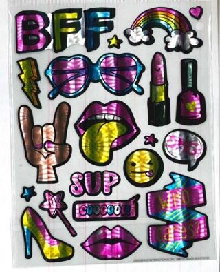 Shiney Retro Stickers # 2