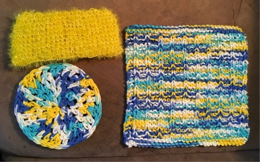 3 Dish cloths
