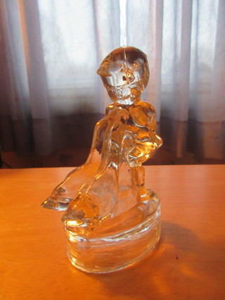Glass Hummel Goose Girl