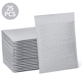"⭐ 25 WHITE ""6×10"" BUBBLE POLY MAILERS ⭐"