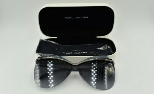 WOMEN'S MARC JACOB RUTHENIUM BUTTERFLY SUNGLASSES (COMES WITH CASE AND CLEANING CLOTH