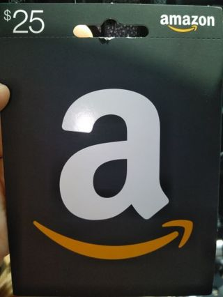 You are bidding on a Amazon $25.00 gift card. Available now!!
