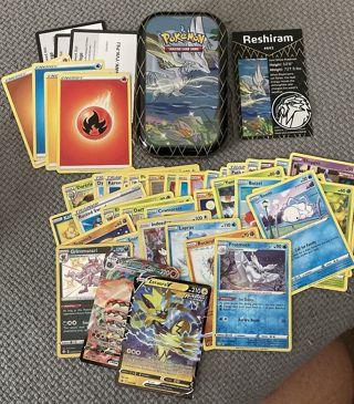 Pokemon mini tin and 44 cards plus coin
