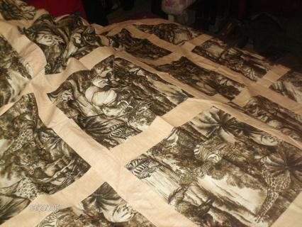 safari(unfinished quilt top