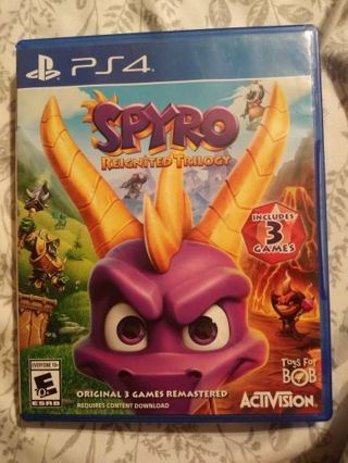PS4 game Spyro Reignited Trilogy includes 3 games