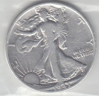1943 D Liberty Half * NICE 90% Silver Coin SCB 192006