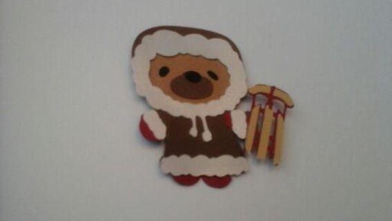Winter sled bear